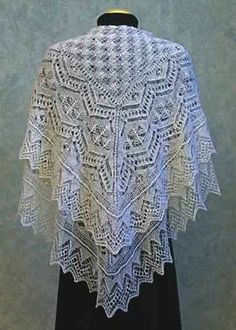 White Tina Shetland lace shawl