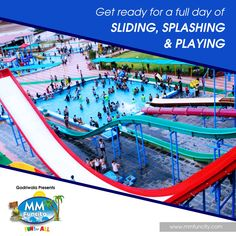 Get ready for a full day of sliding, splashing and playing at MM Fun City.  #MMFunCity #Rides #BestWaterpark #WaterPark #WaterSlides #Thrill #Joy #Excitement #Fun #Sliding #Splashing #Playing