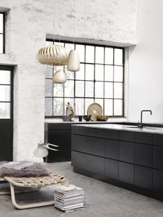 Some kitchens from Danish Kitchen brand Kvik . All photographed in beautiful raw spaces! These pictures show two of my favorite thin...