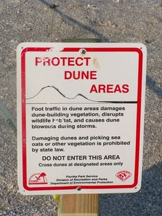 Protect Dune Areas