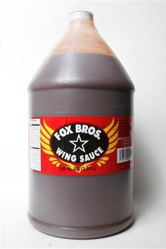 "Foodservice size of Atlanta's best Wing Sauce by Fox Bros BBQ! It's a tomato based sauce with a good splash of vinegar and the southern sweetness with a subtle blast of Texas heat. We call it ""Sweet w"