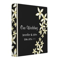 Frangipani Wedding Photo Binder from http://www.zazzle.com/wedding+binders