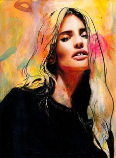 Charming Whimsical Paintings by Charmaine Olivia Love Painting, Woman Painting, Colorful Paintings, Portrait Art, Art Blog, Female Art, Art Drawings, Art Photography, Street Art
