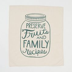 Fruit & Family Tea Towel in House+Home KITCHEN+DINING Linens at Terrain