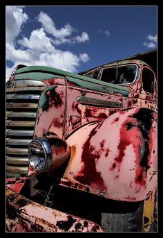 Pink Truck~Maybe Mary K drove it? Vintage Trucks, Old Trucks, Classic Trucks, Classic Cars, Pink Truck, Abandoned Cars, Abandoned Vehicles, Rust In Peace, Old Pickup
