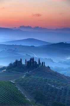 Val D'Orcia Dawn, Tuscany, Italy