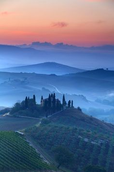 Val D'Orcia Dawn, Tuscany, Italy
