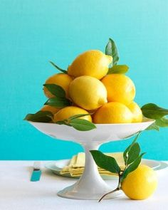 lemon centerpiece (good color combo, too) by iamjosephgrey