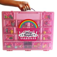 Amazon.com: Shop Keeper Pink Storage Container and Carrying Case - Compatible with Shopkins: Toys & Games