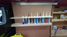 Mastic tube rack