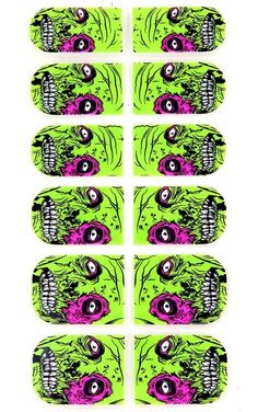 Iron Fist Zombie Nail Wraps...amazing!