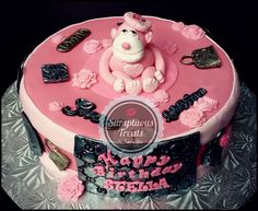 Pink Monkey ~ Gucci/LV Cake ~ Custom-Made-To-Order Cakes & Desserts Edible Art ~ www.sumptuoustreats.com