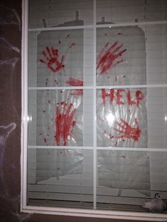 Pin by kristin kinczel on holidays halloween pinterest diy halloween decor decorations wax paper and red paint easy diy cheap affordable spooky zombie solutioingenieria Choice Image