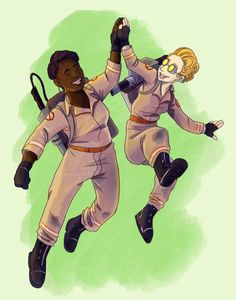 Super Ghost High five! Can we just have a movie of them just hanging out in their apartment? Ghostbusters 2016, Kate Mckinnon, Film Institute, Ghost Busters, Comedy Films, High Five, My Spirit Animal, Best Songs, Livros