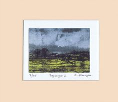 Original Limited Edition Photopolymer Intaglio by AidanFlanaganArt, Landscape Prints, Landscape Art, Irish Landscape, Irish Art, Hand Coloring, Watercolor, Art Prints, The Originals, Gifts