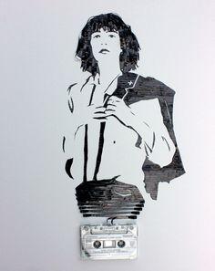 Cassette tape art by Erika Iris Simmons: Patti Smith