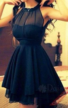 Women's Sexy Mesh Splicing Chiffon Dress -The perfect lbd - little black dress Pretty Dresses, Sexy Dresses, Beautiful Dresses, Gorgeous Dress, Summer Dresses, Casual Dresses, Dresses 2014, Dresses For School Dances, Awesome Dresses