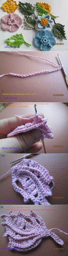 square crochet lace mat with Irish crochet motif Irish Crochet Patterns, Crochet Motifs, Freeform Crochet, Crochet Art, Crochet Designs, Crochet Crafts, Crochet Hooks, Crochet Projects, Yarn Flowers