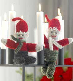 De små, strikkede nisser kan kravle rundt overalt i hjemmet, men pas på, at de ikke brænder sig
