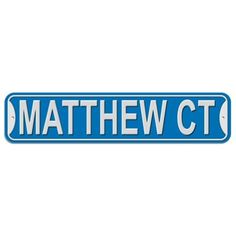 Matthew Court - Blue - Plastic Wall Sign