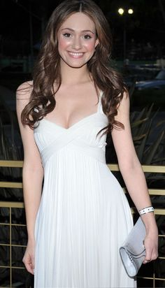 Emmy Rossum, looking fabulous in white