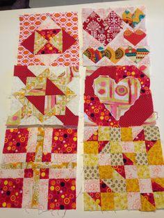 Working on pat Sloan's The Splendid Sampler quilt