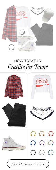 """""""👽N A I L S F OR B R E A K F A S T👽"""" by alpacainfluencer on Polyvore featuring New Look, Marc by Marc Jacobs, R13, Converse, Brandy Melville and Wet Seal"""