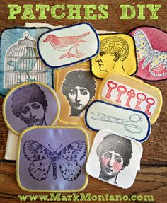 Make your own patches with stuff you already have! Fun DIY, great gift idea!