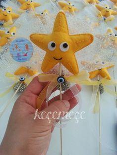keçe ile herşey: Deniz yıldızı lavantalı bebek şekeri