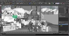 Creating an Ancient Persian City in 3DComputer Graphics & Digital Art Community for Artist: Job, Tutorial, Art, Concept Art, Portfolio