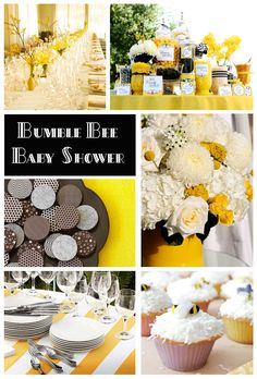 assortment of bee party ideas -- baby showers -- bridal showers -- tea parties -- birthday parties!!