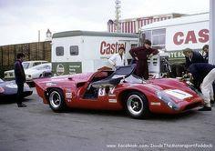 1969 Brands Hatch, BOAC 6h, refueling paddock, Paul Hawkins (Racing) Ltd. with the Lola T70 MK3B nr1 (Hawkins-Williams) dnf . ©?? . # Inside The Motorsport Paddock #