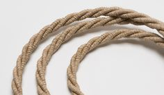 Jute twisted fabric covered electrical flex