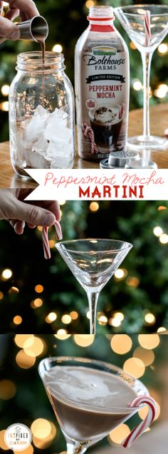 Peppermint Mocha Martini Wersinger Get on it to my favorite bartender♥ Christmas Drinks, Holiday Cocktails, Cocktail Drinks, Christmas Treats, Fun Drinks, Yummy Drinks, Alcoholic Drinks, Beverages, Inspired By Charm