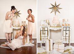 glittery gold bridal shower.