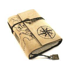 Leather Journal, Handmade, Treasure Map via Etsy