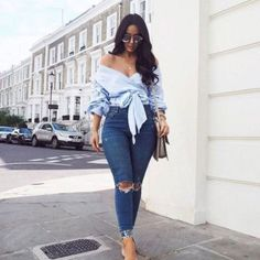 44 Flawless Look Back to School Outfit Ideas to Get The Cool Look - Fashion Maxx Curvy Girl Outfits, Cute Casual Outfits, Stylish Outfits, Stylish Clothes, Casual Jeans, Look Fashion, Fashion Outfits, Womens Fashion, Feminine Fashion