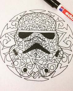 star wars mandala google search star wars programs pinterest mandalas star wars and search. Black Bedroom Furniture Sets. Home Design Ideas
