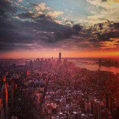 New York City at sunset November 2nd 2013