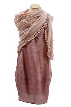 Chalet Linen Dress with Matta Scarf