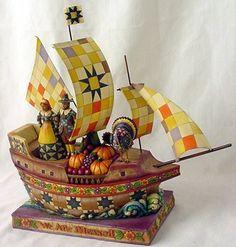 "Jim Shore ""Seeking Hope, Bounty and Joy"" Pilgrim Vessel Figurine by Jim Shore"