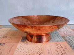 Vintage 'Hammered' Copper Bowl Arts and by KittysVintageVault