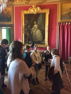 Students took a tour of the Palace of Versailles.