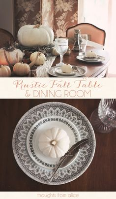 Thoughts from Alice: Rustic Fall Table
