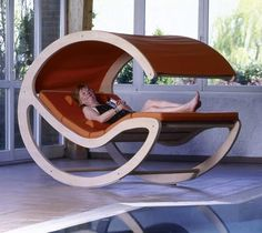 Velice Lounge was designed by DesignKoalition to be the ultimate relaxing space. Looks like a great place for a nap.