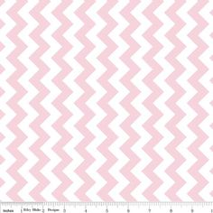 BABY PINK Small Chevron  Extra Wide 58 Fabric  Riley by Jambearies