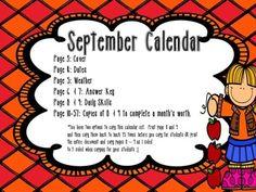 September Daily Calendar Activity Journal  Daily Calendar