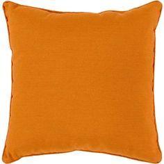 """Piper 16"""" Outdoor Pillow in Burnt Orange design by Surya (155 BRL) ❤ liked on Polyvore"""