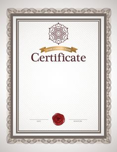 Certificate background material