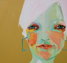 Abbey McCulloch - Sally, New Portraits 2009 Palette, Bold Colors, Artsy Fartsy, Art Images, Home Art, Amazing Art, Whimsical, Art Deco, Fantasy
